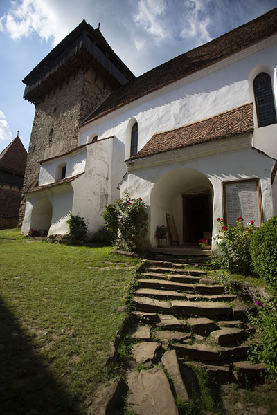 Picture of Viscri (Romania): The stairs leading to the fortified church of Viscri