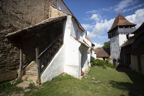 Picture of Viscri (Romania): Inside of the complex of the fortified church of Viscri