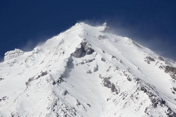 Picture of Snow swirling around the summit of Koryaksky Volcano