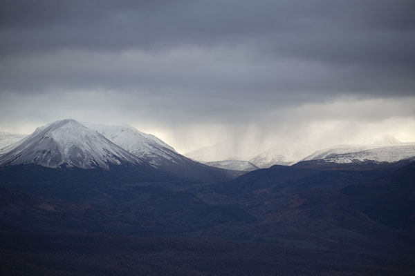 Foto di Mountains with showers in Bystrinsky Nature Park - Russia - Europa