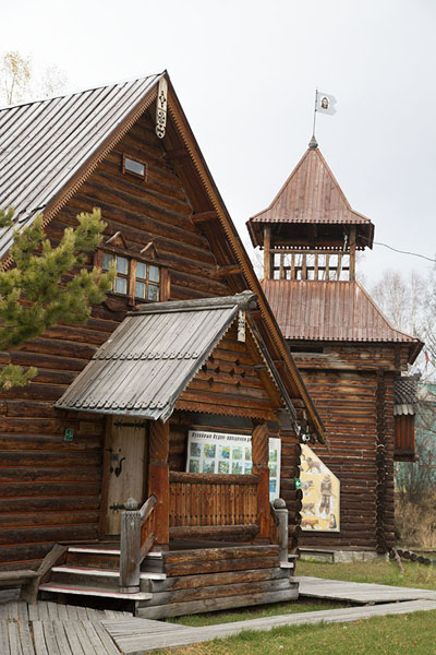 Wooden buildings in the ethnographic museum of Esso | Esso | Rusland
