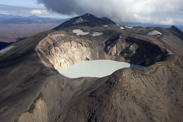 Foto di Crater lake seen from the skyCamciatka - Russia