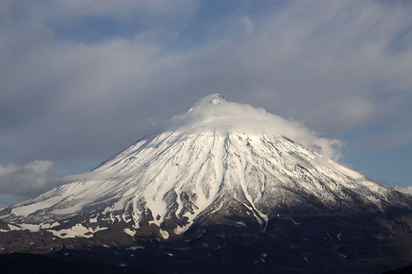 Picture of Koryaksky volcano with cloud - Russia - Europe