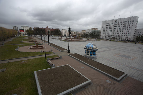 Foto van Lenin Square seen from the southChabarovsk - Rusland