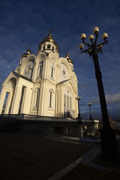 Foto van The Spaso-Preobrazhensky cathedral in the afternoonChabarovsk - Rusland