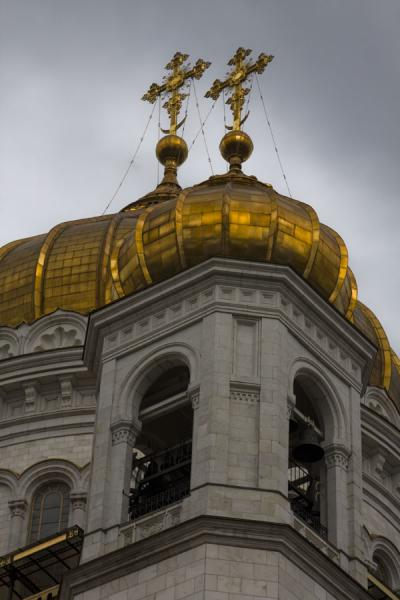 Picture of Cathedral of Christ the Saviour (Russia): Typical orthodox cupolas crowning the top of the cathedral