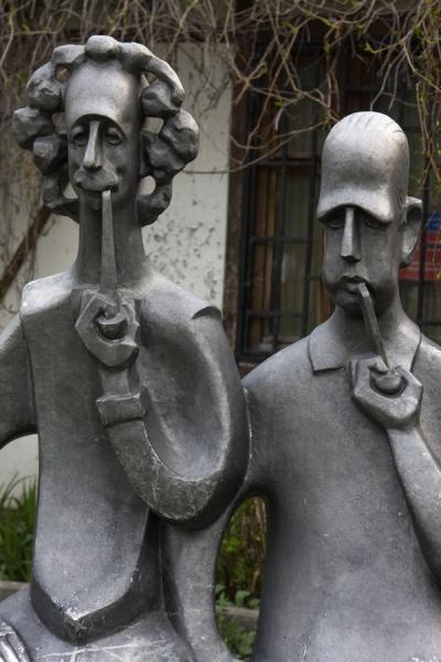 Two men smoking a pipe | Sculpture Park | Russia