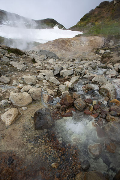 The small Valley of the Geysers | Mutnovsky Valley of Geysers | Russie