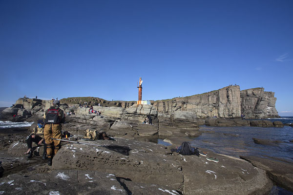 Foto de Cape Tobizina with lighthouse and cliffsVladivostok - Rusia