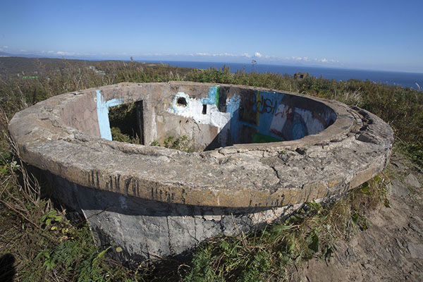 Ruins of defensive fort on top of a hill on Russky island | Isla Russky | Rusia