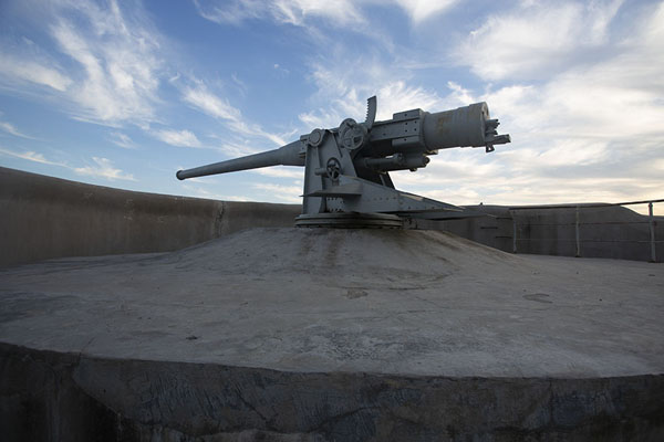Picture of Artillery at Novosiltsevskaya battery at the entrance of Russky island