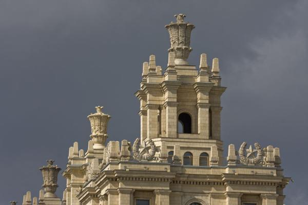 Detail of the Ukraina hotel | Stalins Seven Sisters | Russia