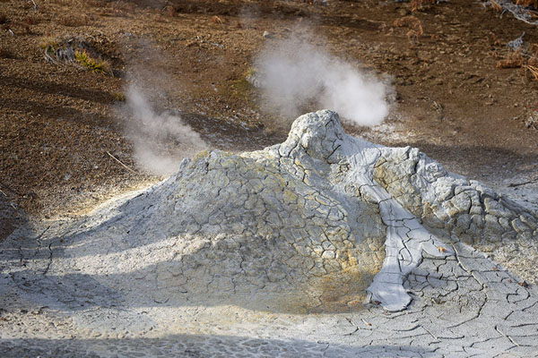 New-born mud volcano inside the caldera | Uzon Caldera | Rusland