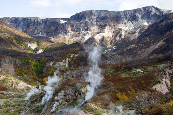 Steam in the Valley of Geysers | Vallei van de Geisers | Rusland