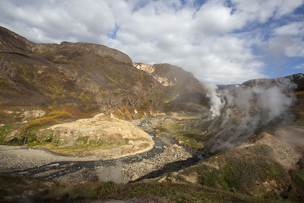 Overview of the northern part of the Valley of Geysers | Valle de los Geysers | Rusia