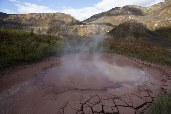 Picture of Circular pot of mud in the Valley of the Geysers - Russia - Europe
