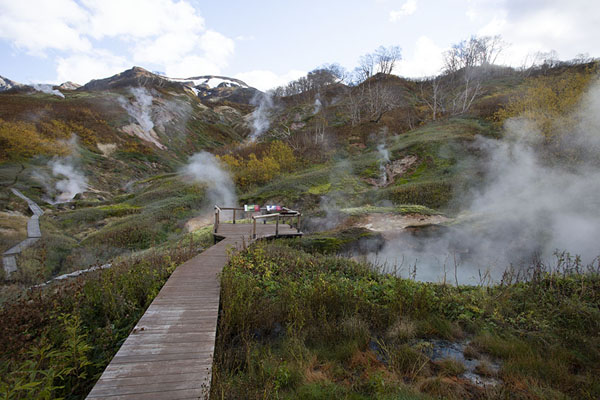 Picture of Boardwalk in the Valley of GeysersValley of Geysers - Russia