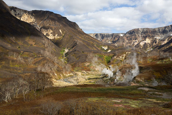 Looking north in the Valley of Geysers | Vallei van de Geisers | Rusland