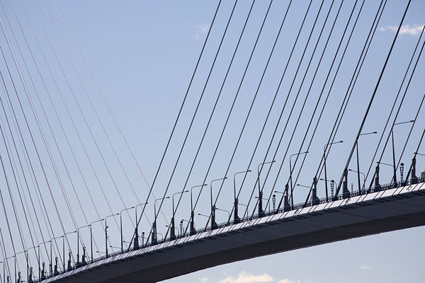 Middle section of Russky bridge | Vladivostok bruggen | Rusland