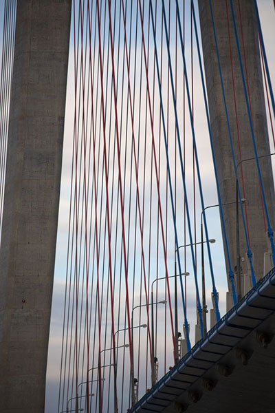Close-up of Russky bridge | Vladivostok bridges | 俄罗斯