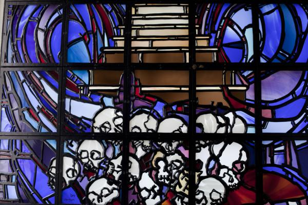 Stained glass window decorating the Memorial Centre | Kigali Genocide Memorial Centre | Rwanda