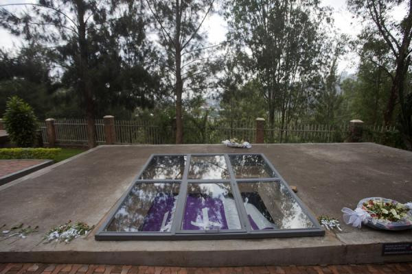 Picture of Kigali Genocide Memorial Centre (Rwanda): Open part of the burial site of the Memorial Centre