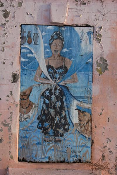 Picture of Basseterre (Saint Kitts and Nevis): Painting on a wall in Basseterre