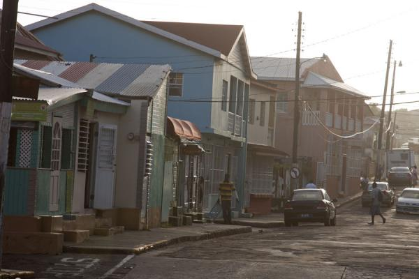 Picture of Basseterre (Saint Kitts and Nevis): Soft light on a street in Basseterre