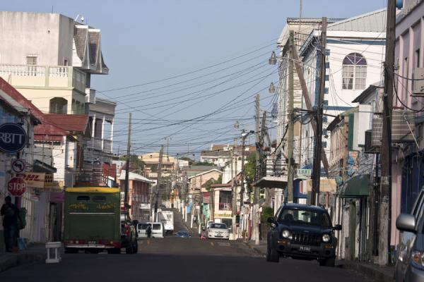 Picture of Basseterre (Saint Kitts and Nevis): View of one of the streets of Basseterre