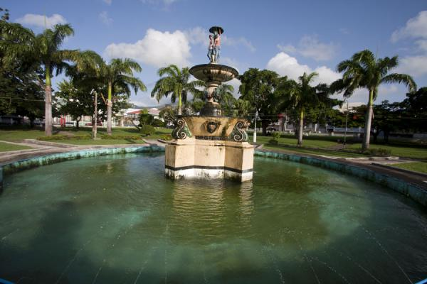 Picture of Basseterre (Saint Kitts and Nevis): Fountain on Independence Square, the main square with small park