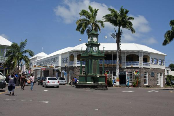 Picture of Basseterre (Saint Kitts and Nevis): The Georgian fountain and clock are the centre of the Circus, the main intersection of Basseterre