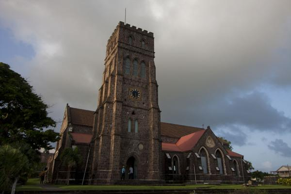 Picture of Basseterre (Saint Kitts and Nevis): Late afternoon sunlight on the St. George's Anglican church
