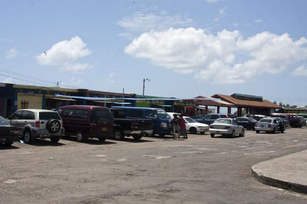 Picture of Basseterre (Saint Kitts and Nevis): Transportation hub of Basseterre: bus station and ferry dock