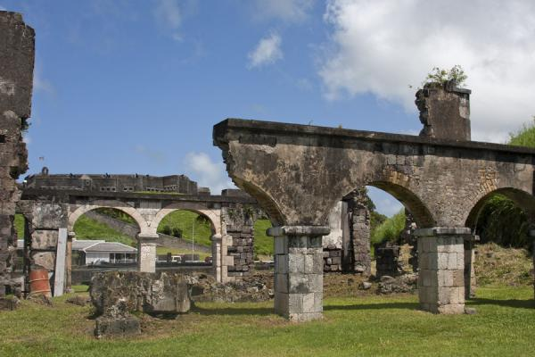 Picture of Brimstone Hill Fortress (Saint Kitts and Nevis): Arched ruins of the Artillery Offices and the Cook house