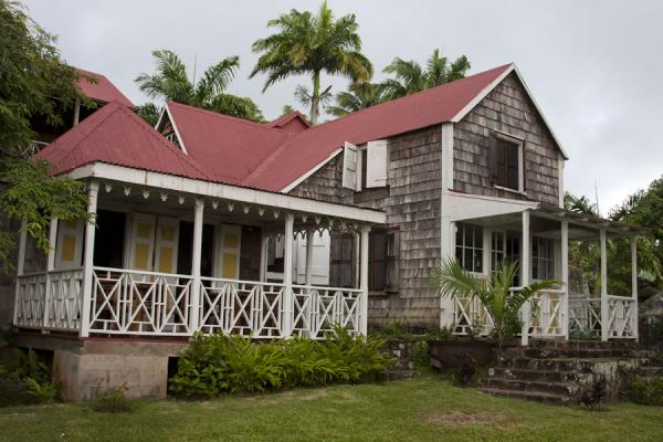 Picture of Nevis Plantations (Saint Kitts and Nevis): Traditional building with wide veranda at the Old Manor estate