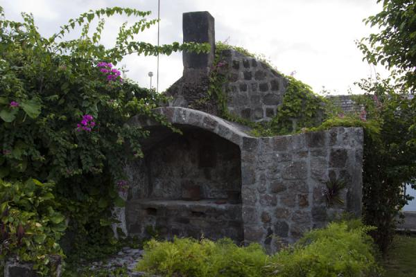 Foto van Old stone building in the Nisbet plantationNevis plantages - St Kitts en Nevis