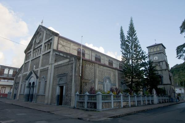 Picture of The cathedral of Castries with bell tower
