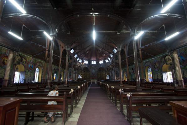 The interior of the cathedral of Castries: looking towards the main altar from the entrance | Castries Cathedral | Saint Lucia
