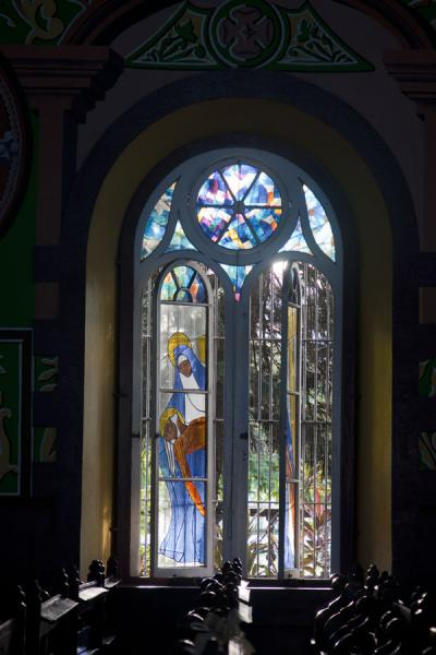 One of the windows of the cathedral of Castries | Castries Kathedraal | Santa Lucia