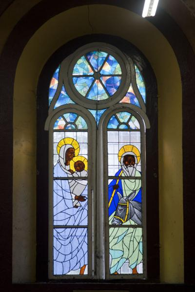 Stained glass window with religious scene | Castries Cathedral | Saint Lucia
