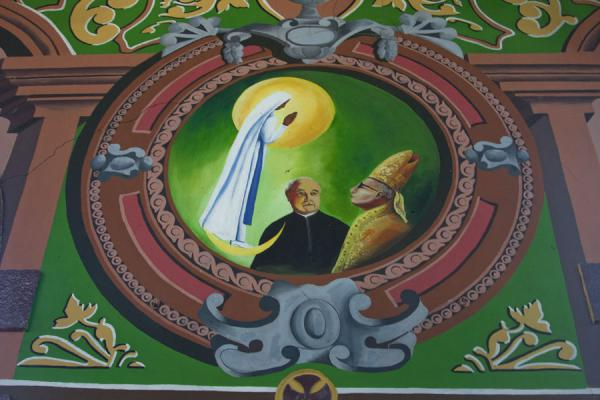 Religious wall painting in the cathedral of Castries | Castries Cathedral | Saint Lucia