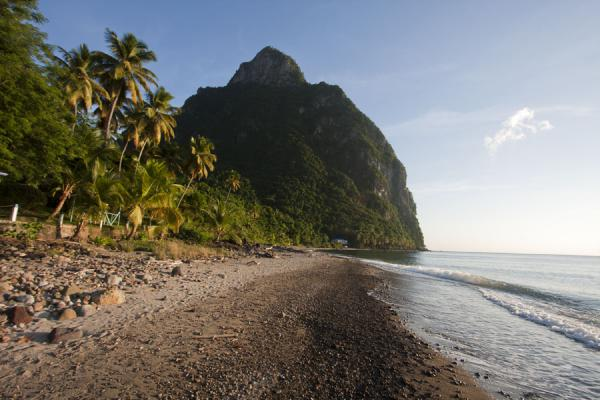 Petit Piton seen from Malgretout beach | Petit Piton | Saint Lucia