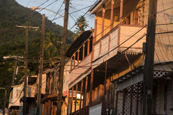 Balconies and wires are a common sight in Soufrière | Soufrière | Saint Lucia