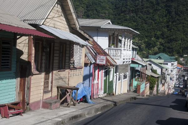 Picture of Soufrière (Saint Lucia): One of the streets of Soufrière
