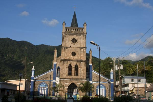 The catholic church on the main square of Soufrière | Soufrière | Saint Lucia