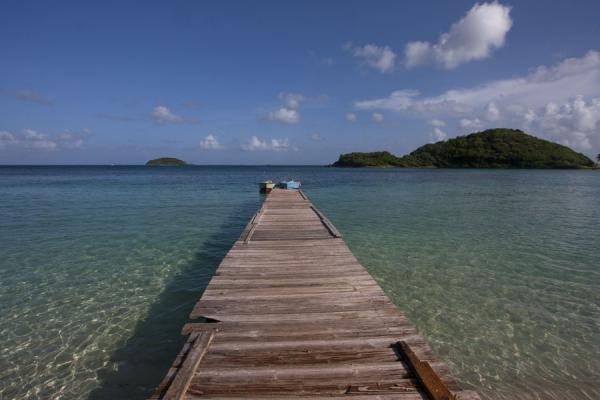 Picture of Wooden pier jutting out into Sandwhistle bay - Saint Vincent and the Grenadines - Americas