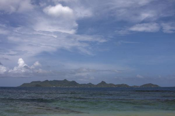 Picture of Union  Island (Saint Vincent and the Grenadines): Mountainous Union Island seen from Morpion islet