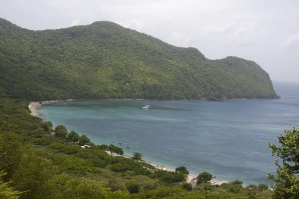 Foto van Chatham Bay on the west coast of Union IslandUnion  Island - Saint Vincent en de Grenadines