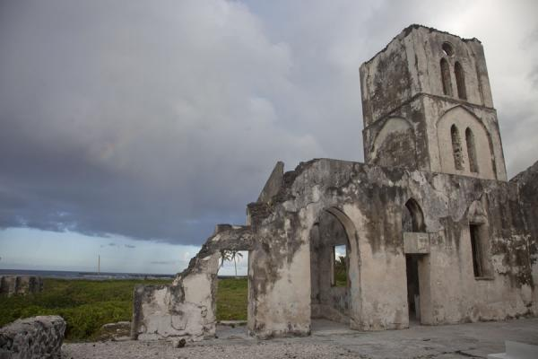 Picture of The old church of Falealupo, destroyed by a cyclone in the early 1990sFalealupo - Samoa
