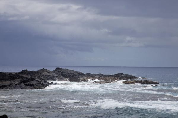Rocks in the surf of the Pacific at Cape Mulinuu | Falealupo | Samoa